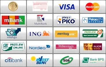 Obsługiwane płatności